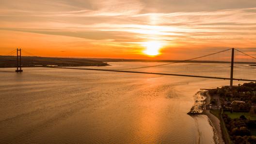 Humber Bridge At Sunset