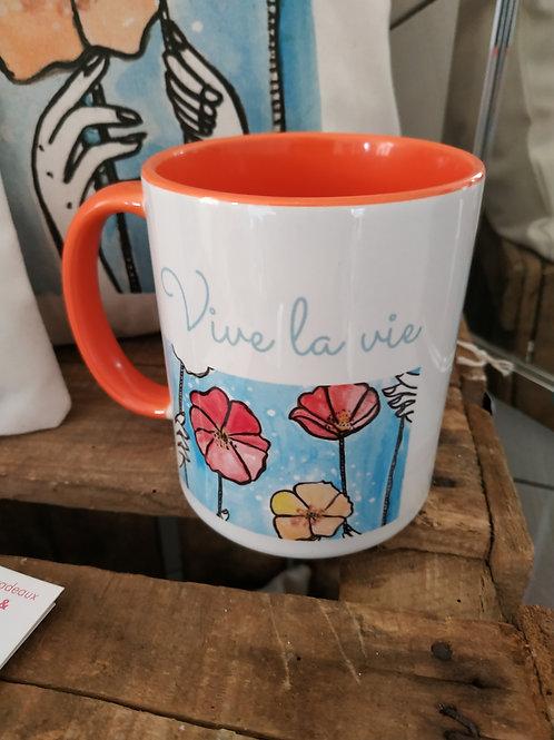 """Mug panoramique """"Vive la vie !"""""""