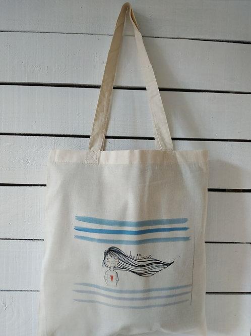 """Sac tote bag """"Happiness"""""""