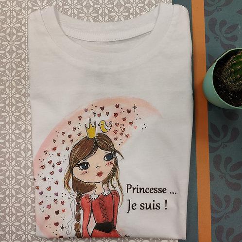 """Tee shirt enfant """"Princesse, je suis !"""""""