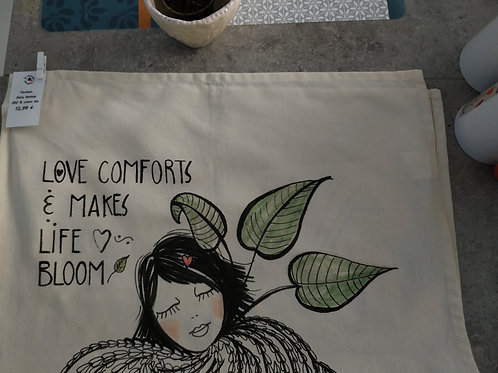 "Torchon de cuisine ""Love comforts & makes life bloom"""