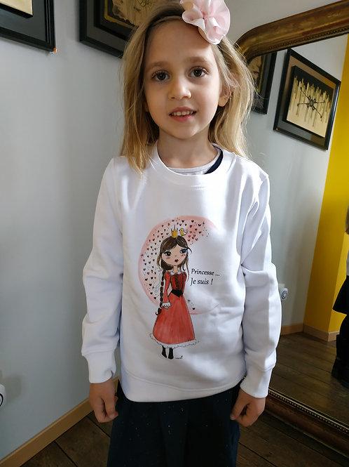 """Sweat enfant """"Princesse je suis !"""""""