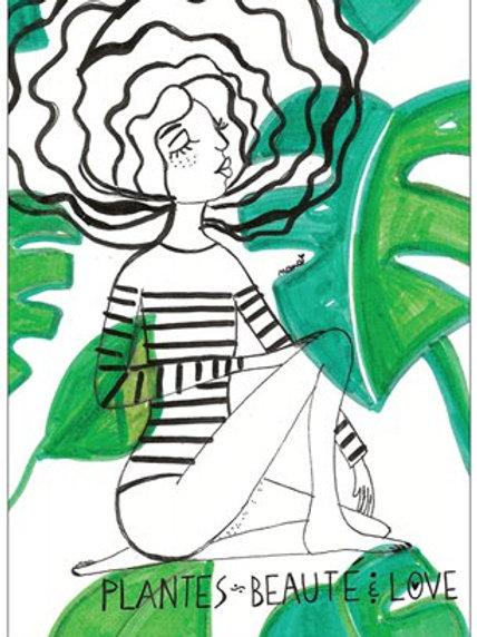 """Carte postale """"Plantes beauté & love"""""""
