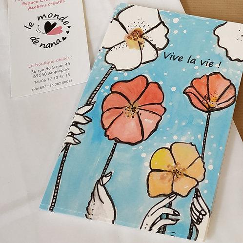 "Carte postale papier naturel ""Vive la vie ! """