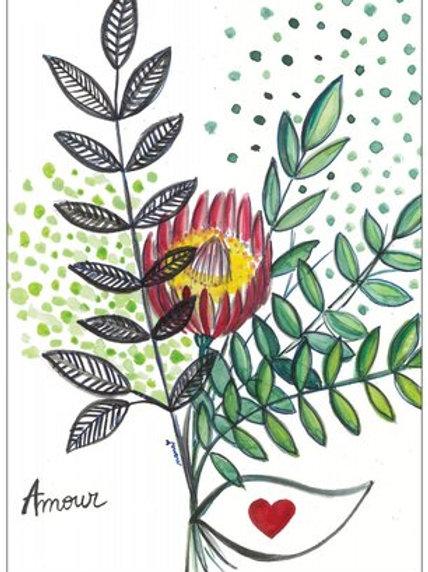 """Carte postale """"Amour"""""""