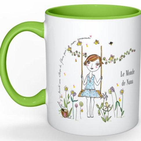 """Mug """"Et j'ai tricoté une écharpe de fleurs ..."""""""