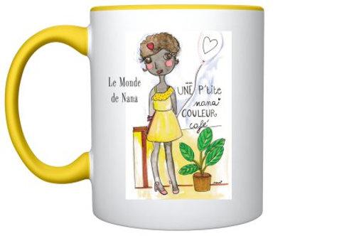 """Mug """"Une pt'ite nana couleur café"""" 2"""