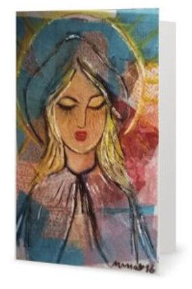 "Carte double ""Marie Aimer Marianne Liberté"""
