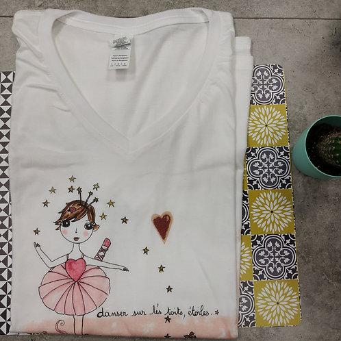 """Tee-shirt Femme """"Danser sur les toits, étoiles"""""""