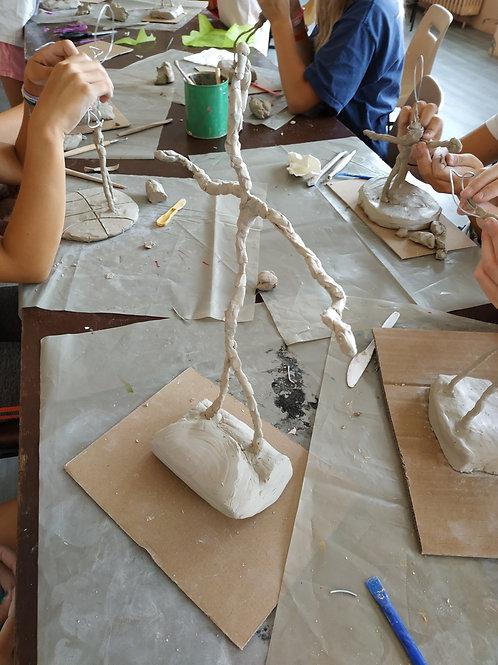 Atelier familles A LA GIACOMETTI Lac des Sapins Cublize
