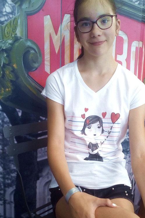 """Tee-shirt Femme """"l'amour est dans l'air"""""""
