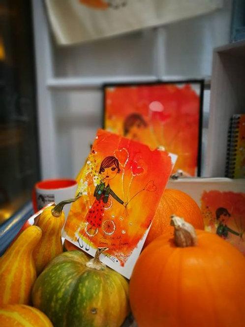 """Carte postale """"La vie pétille"""