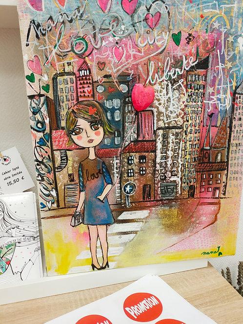 """Tableau """"Amélie dans la city"""""""