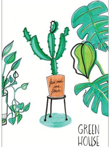 "Carte postale ""Green house"""