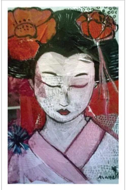 """Affiche """"La geisha endormie"""""""