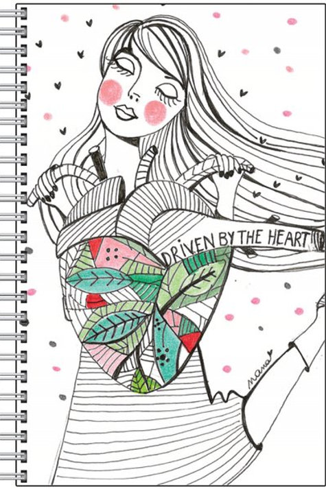 """Carnet """"Driven by the heart"""""""