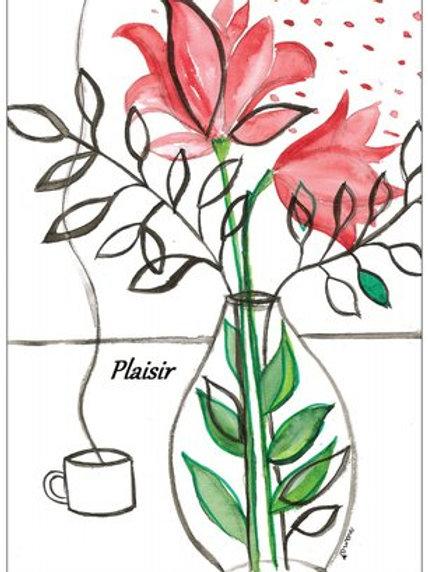 "Carte postale ""Plaisir"""
