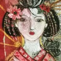 """Magnet """"La geisha au papillon"""