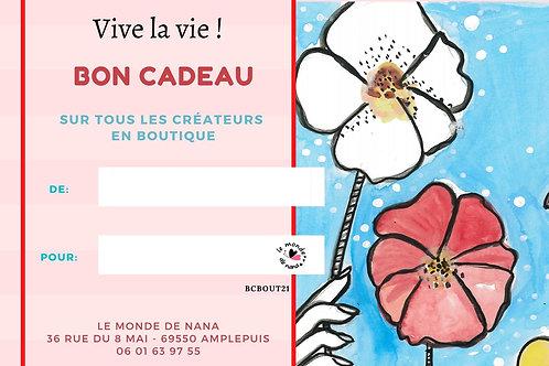 Carte cadeau  Vive la vie ! - Articles créateurs - 20€