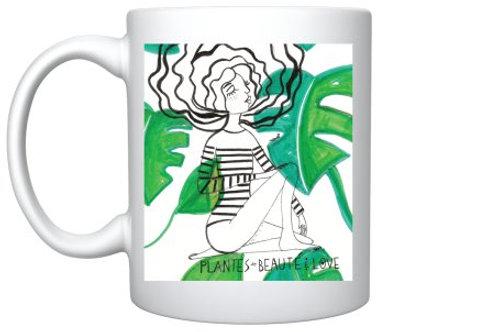 """Mug """"Plantes beauté & love"""""""