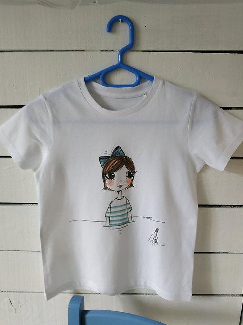 """Tee shirt enfant """"Une bouteille à la mer"""""""