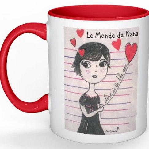 """Mug """"L'amour est dans l'air"""""""