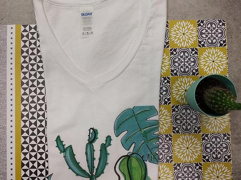 "Tee-shirt Femme ""Green house - fais moi une fleur"""