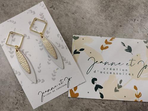 """Boucles d'oreilles """"Macha"""" - Jeanne et Jo"""