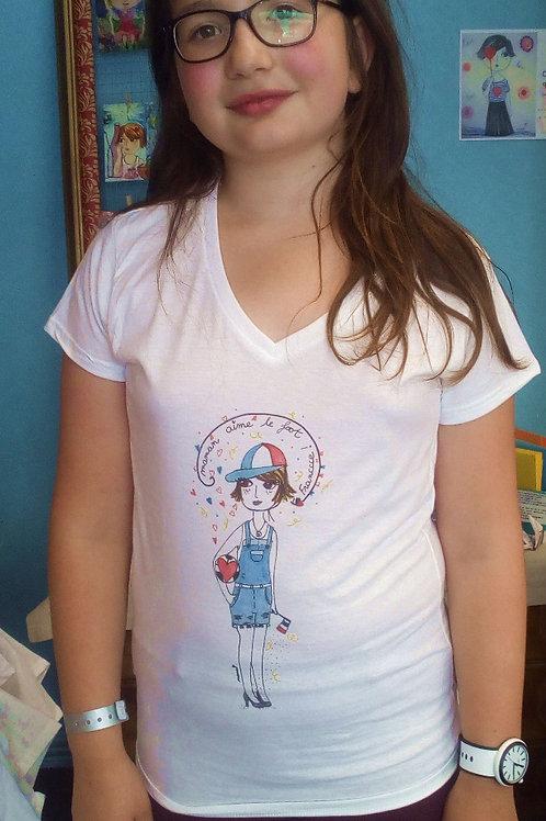 """Tee-shirt enfant """"Maman aime le foot !"""