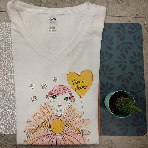 """Tee shirt Femme """"Je suis une fleur"""""""