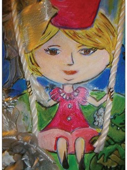 "Carte postale ""La p'tite reine"""