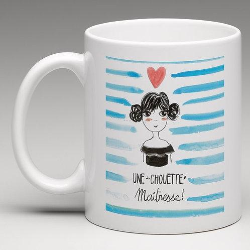 "Mug ""Une chouette maîtresse"""