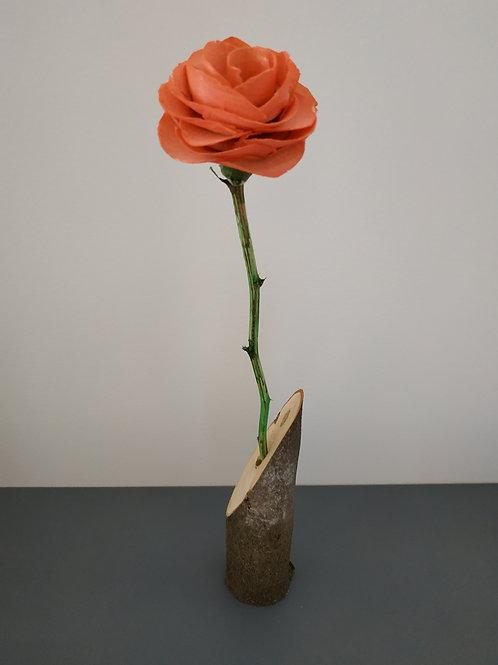 Soliflore rose - Fabien BOCHARD - Sculpture, art et bois