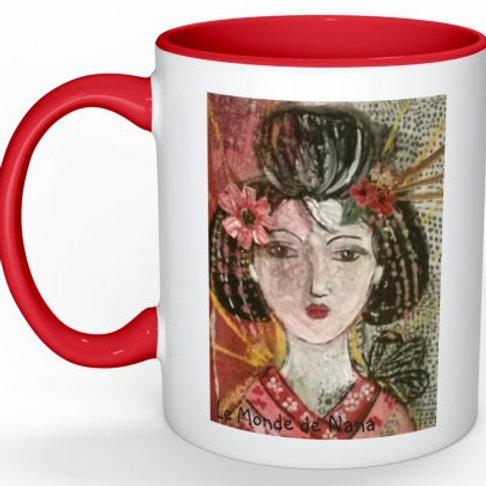 "Mug ""La geisha au papillon"""
