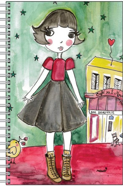 """Carnet """"Amélie au coeur d'or """"♥"""