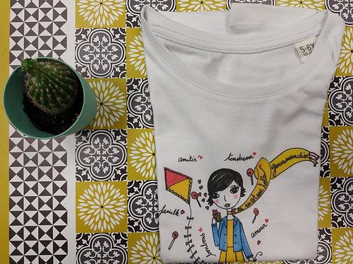 """Tee shirt enfant """"La vie est une belle gourmandise"""""""