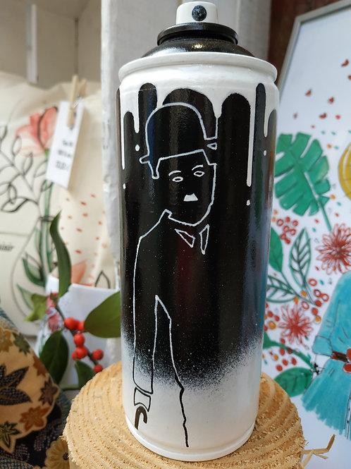 Charlie Chaplin - Bomb'Art sculpture - RöM'ArT