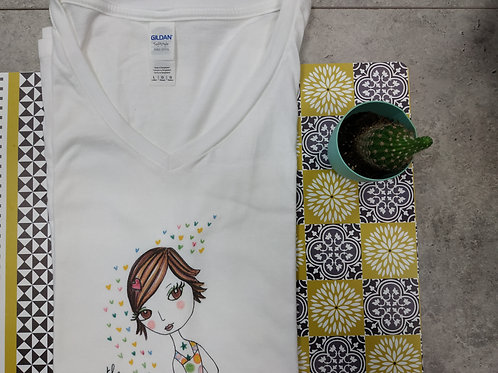 """Tee-shirt Femme """"The colours of life"""""""