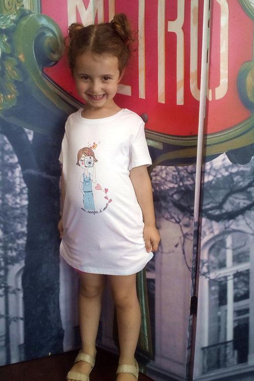 """Tee-shirt enfant """"un sourire d'amour"""""""