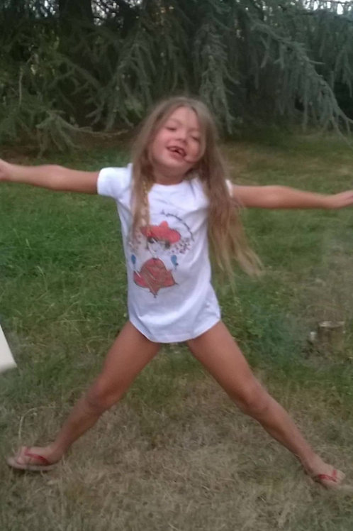 "Tee-shirt enfant avec Mini nana ""Un mexicain basané"""
