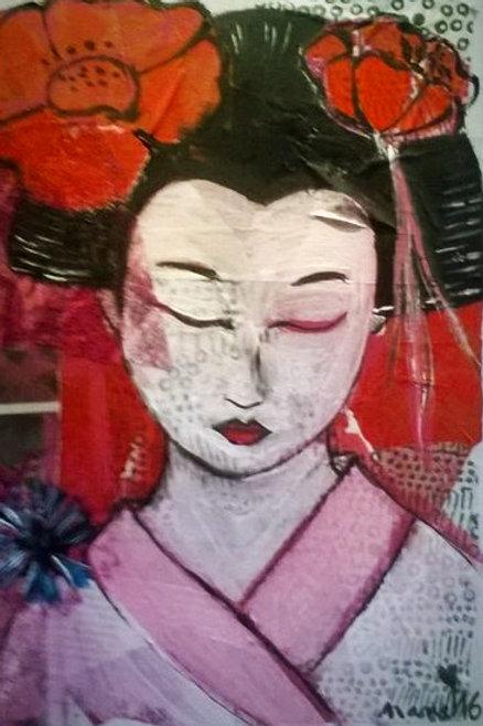 """Tableau """"La geisha endormie"""""""