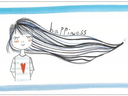 "Carte postale ""Happiness"""