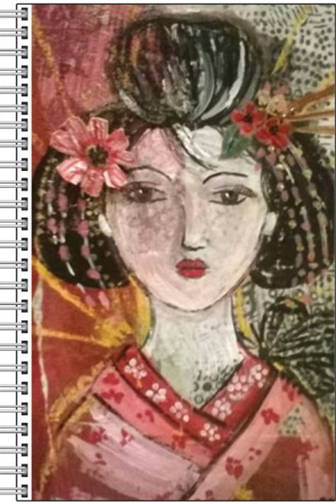 """Carnet """"La geisha au papillon"""""""