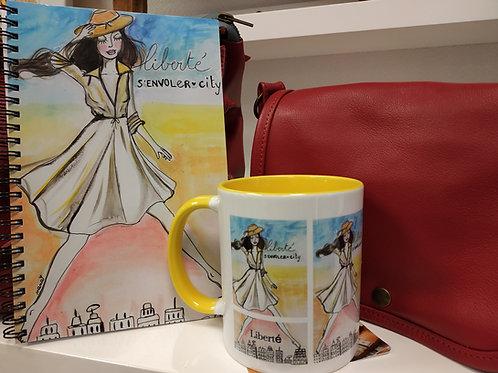 """Mug panoramique """"Liberté !"""""""