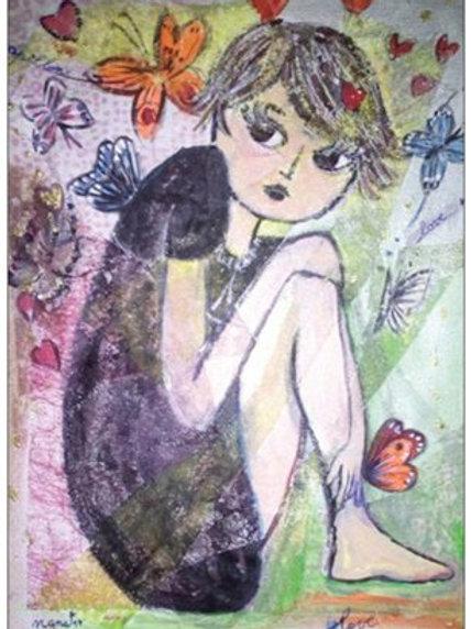 """Carte postale """"Le papillon Nana"""""""