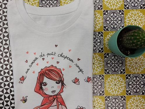 """Tee shirt enfant """"Un amour de petit chaperon rouge"""""""