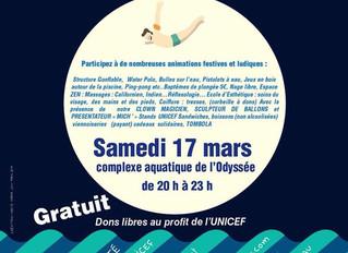 17 mars la Nuit de l'Eau 20h 23h venez vous faire masser pour la bonne cause