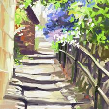 Steps at Robin Hoods Bay