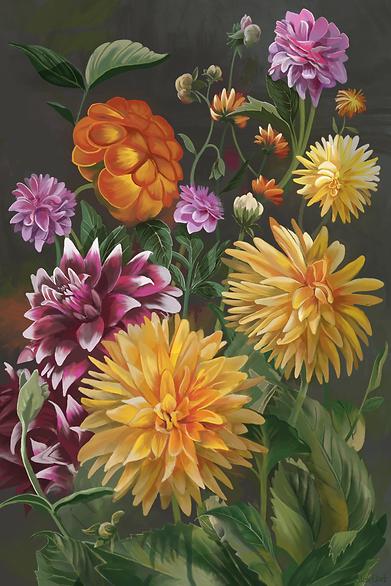 Summer Garden, in the style of Rachel Ruysch