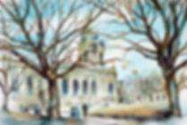 Church in Birmingham - Watercolour Painting